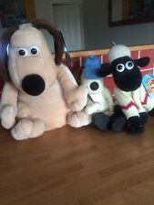 WALLACE & GROMIT 2 GROMITS & 1 SHAUN THE SHEEP PYJAMA CASE ALL WITH LABELS