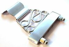 Quality open wired archtop jazz bass guitar tailpiece / bridge in Chrome SM402