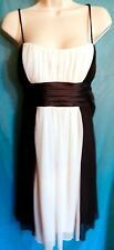 """City Triangle"" Black & White Spaghetti Strap Dress - Size S"