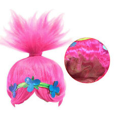 Hot items! Kids Trolls Funny Poppy Wigs Cosplay Party Toy Props Halloween Pink