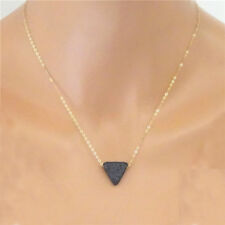 Lava stone Triangle necklace Essential Oil Diffuser Necklace Rose Gold tone