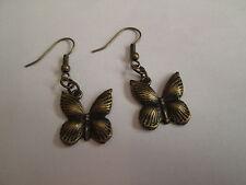 """Boucle d'oreille """"Papillon"""",en métal Bronze,neuve!"""