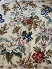 Early Floral Antique French Aubusson Needlepoint Wool Tapestry Chair Seat Woven