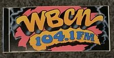 Wbcn Boston Radio Station Bumper Sticker New Mint 7x3 Rare