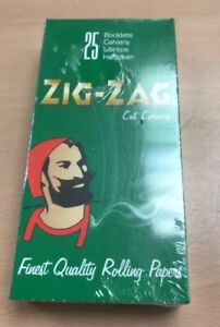 ZIG ZAG GREEN Paper Regular Rolling Cig ZIGZAG Papers Cut Corners box of 25