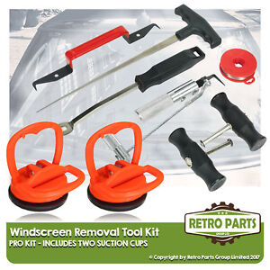Windscreen Glass Removal Tool Kit for Fiat Qubo. Suction Cups Shield