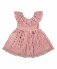 NWT Nannette Kids Girls Mauve Crushed Lace Yoke Special Occasion Dress Size 4