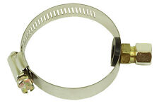 """Adjustable Drain Saddle Valve For 1/4"""" Tubing with Steel Compress Brass"""