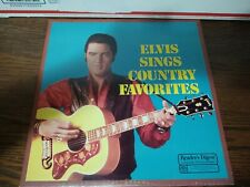 Elvis Presley Elvis Sings Country Favorites Vinyl Record LP 33 1/3 Country King
