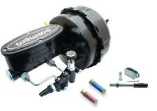 """1964-74 GM A, F, X Black 9"""" Dual Power Brake Wilwood Master Assembly & Residuals"""