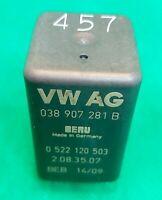 038907281B  Audi VW Seat Skoda Glow Plugs 9-Pin Black Relay 0522120503 OEM VW AG