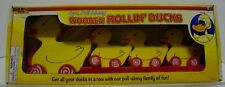 Wooden Pull Along 4pc. WOODEN ROLLIN' DUCKS  New in Box Real Wood Toys