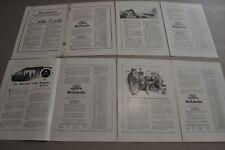 1914-18 VACUUM OIL 2-page adverts x4, Gargoyle, Mobiloil, vintage autos