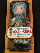 "Holly Hobbie 1976 - Vintage Original Miniature 9"" Rag Doll #3420 - New In Box"