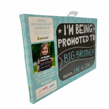 Sibling Announcement Chalkboard by Pearhead With Pink & Blue Chalk New In Box