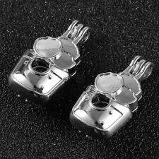 5X Flower Pot Pearl Oyster Bead Silver Locket Cage Pendant Charms Necklace Gift