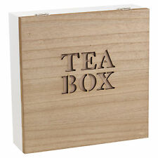 Natural Wooden Chic Tea Bag Box Organic Clipper 90 Tea Bags, Free Delivery