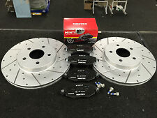 FORD MONDEO MK3 TDCI ST155 ST220 FRONT DRILLED GROOVED BRAKE DISCS MINTEX PADS