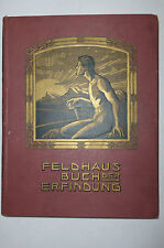 Jugendstil Lexikon Feldhaus Buch der Erfindungen Verlag Oestergaard Berlin 1908