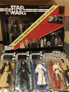 "Star Wars 6"" inch The Black Series lot of 5 W/ Legacy Display From New Hope"