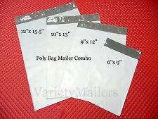 36 POLY BAG PLASTIC POSTAL MAILING ENVELOPE VARIETY PACK 12x15.5 10x13  9x12 6x9