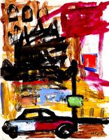 Paris Street Original Contemporary Oil Painting Modern French Art Neal Turner
