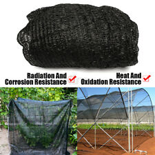 50% UV Sunblock Shade Cloth for Plant Cover Greenhouse Patio 7 x 20 Ft Black
