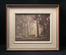 AUSTRALIAN LANDSCAPE OIL ON BOARD PAINTING SIGNED JOHN DUDLEY LISTED ARTIST