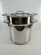 ALL CLAD copper core 7 qt quart PASTA PENTOLA SOUP POT with LID MADE IN AMERICA