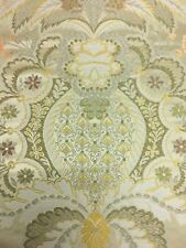 3.375 yds Damask Upholstery Fabric Multi Piece Floral Gold DF