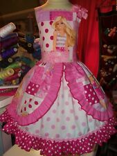 Vintage fabric Doll Barbie Girls dress Size 6 Ready Ship