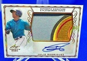2020 Leaf Trinity JULIO RODRIGUEZ Autographed 5-Color Patch Card (PA-JR1)!