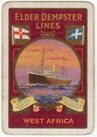 Playing Cards 1 Single Card Old Wide ELDER DEMPSTER LINES Shipping Advertising 3