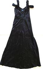 New Ralph Lauren Collection 100% Silk Black Formal Evening Gown Dress size 10