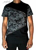 Time is Money zip-star camouflage t shirt, rap hip hop g mesh mens club tees blk