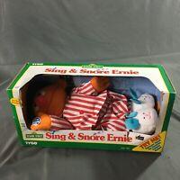 Vintage Sesame Street Sing & Snore Ernie by Tyco 1996 In Box