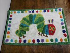 "POTTERY BARN KIDS Eric Carle Very Hungry Caterpillar Bathmat Rug Mat 32"" x 20"""