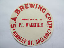 SA BREWING Co RISING SUN HOTEL BEER KEG LABEL c1970s PORT WAKEFIELD SOUTH AUST