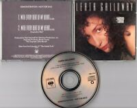 Leata Galloway Promo-CD WITH EVERY BEAT OF MY HEART © 1988 US 2-track MINT