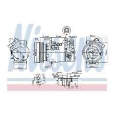 Fits Renault Clio MK4 1.5 dCi 110 Genuine Nissens A/C Air Con Compressor