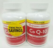 Twin Pack Walgreens CoQ-10 200 mg 90-Softgels Heart Health 01/2021