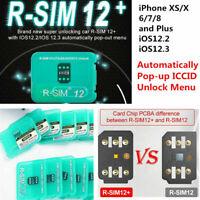 RSIM 12+ 2018 R-SIM Nano Unlock Card for iPhone X/8/7/6/6s/5S/ 4G iOS 12 11