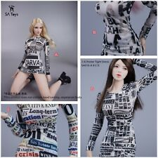 """Custome 1/6th Sa016 Poster Tight Dress Model For 12""""Female Figure Doll"""