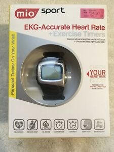Mio Sport Watch EKG-Accurate Heart Monitor Exercise Timer Digital Rubber NIB