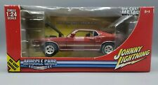 2005 Johnny Lightning 1969 Ford Mustang Mach I - Red - 1:24 Scale - Muscle Cars