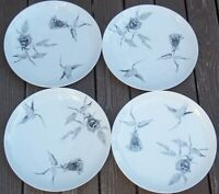 GROUP  OF 4 ROSENTHAL CONTINENTAL JET ROSE Dinner Plates RAYMOND LOEWY
