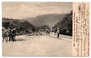 Mexico Morelos Cuernavaca Estacion de Contreras Railroad Train Station Postcard