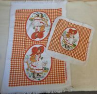 Vintage HOLLY HOBBIE Washcloth and Hand Towel SET (TH1494)
