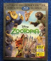 Zootopia 3D (Blu-ray 3D+Blu-ray+DVD+Digital, 2016; Ultimate Collector's Ed.) NEW