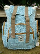 HEMP CANVAS RUCKSACK Backpack BAG HIPPY BOHO TRAVEL Beach LAPTOP FESTIVAL D